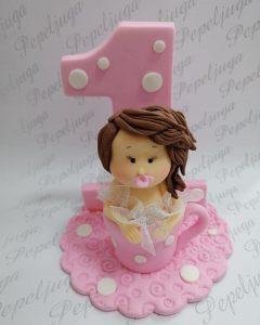 50 Ukrasi Za Torte Devojcica sa brojem 1