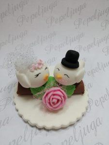 55 Figurice Za Torte Pticice na gradni mladenci